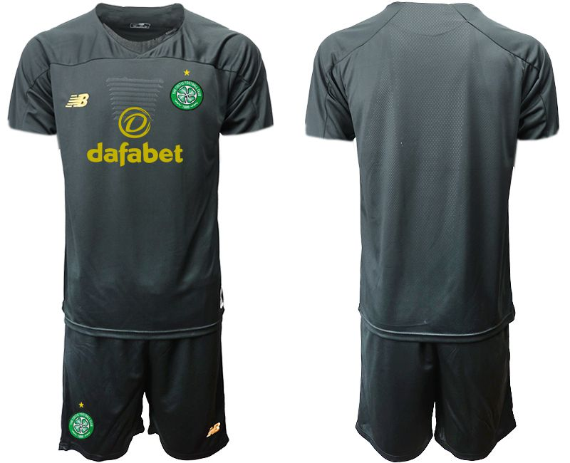 Men 2019-2020 club Celtic black long sleeve goalkeeper Soccer Jerseys