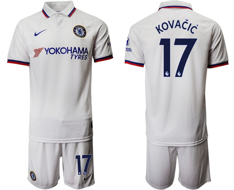 Men 2019-2020 club Chelsea away 17 white Soccer Jerseys