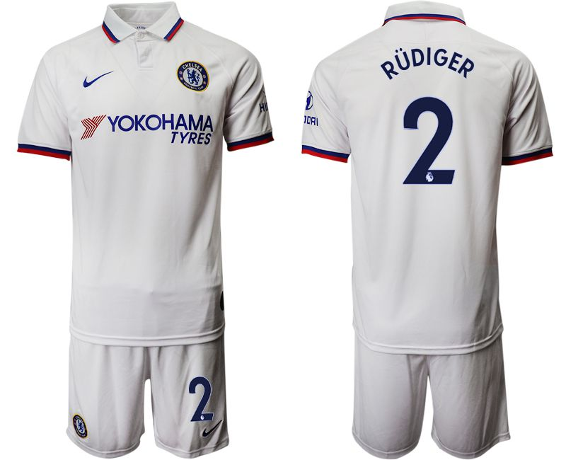 Men 2019-2020 club Chelsea away 2 white Soccer Jerseys