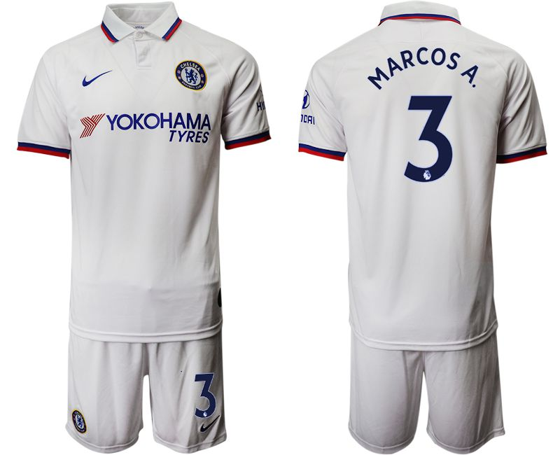 Men 2019-2020 club Chelsea away 3 white Soccer Jerseys