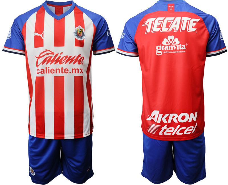 Men 2019-2020 club Guadalajara home red Soccer Jerseys