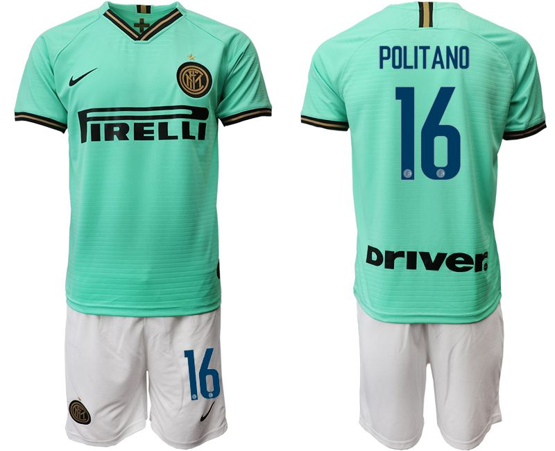 Men 2019-2020 club Inter Milan away 16 green Soccer Jerseys