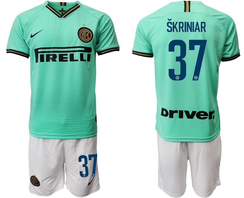 Men 2019-2020 club Inter Milan away 37 green Soccer Jerseys