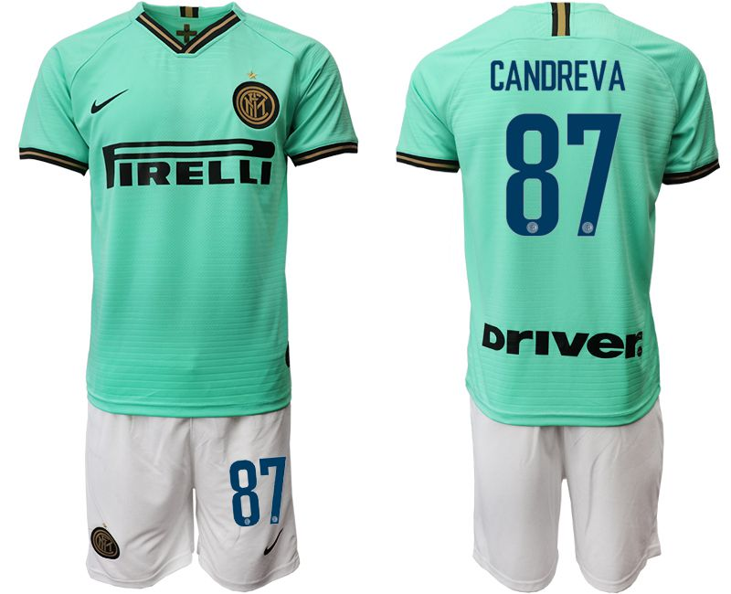 Men 2019-2020 club Inter Milan away 87 green Soccer Jerseys