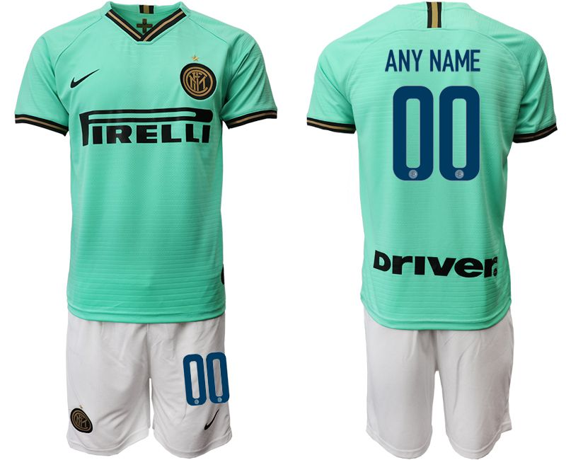 Men 2019-2020 club Inter Milan away customized green Soccer Jerseys