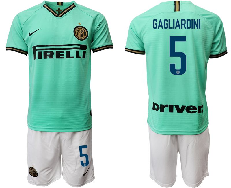 Men 2019-2020 club Internazionale Milano away 5 green Soccer Jerseys