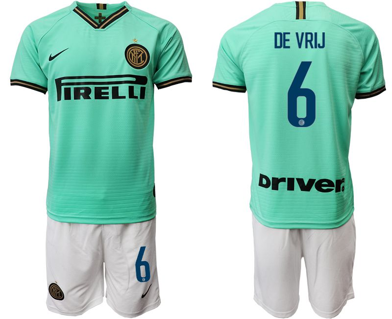Men 2019-2020 club Internazionale Milano away 6 green Soccer Jerseys