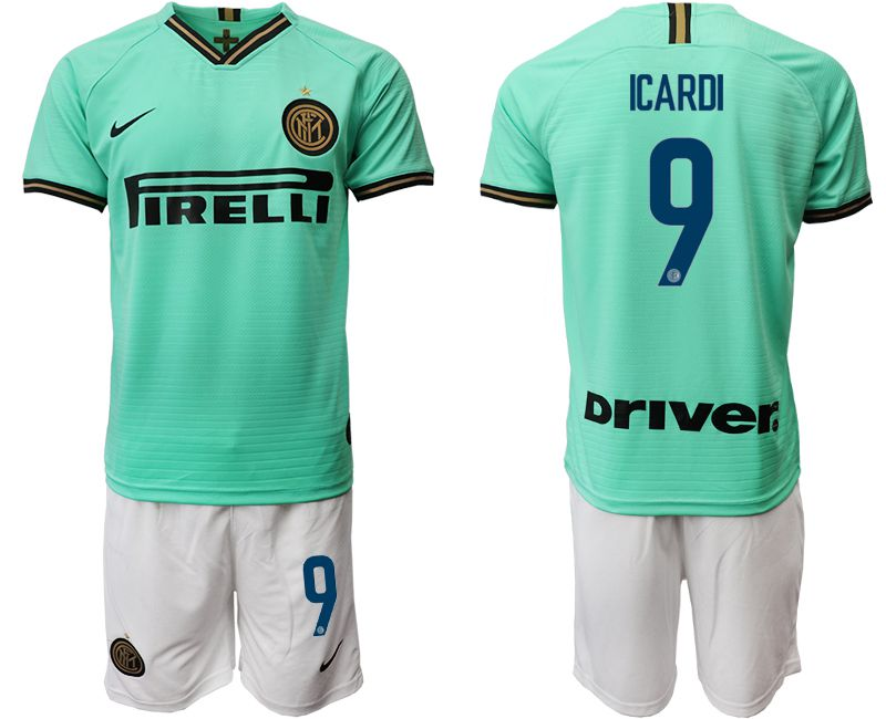 Men 2019-2020 club Internazionale Milano away 9 green Soccer Jerseys
