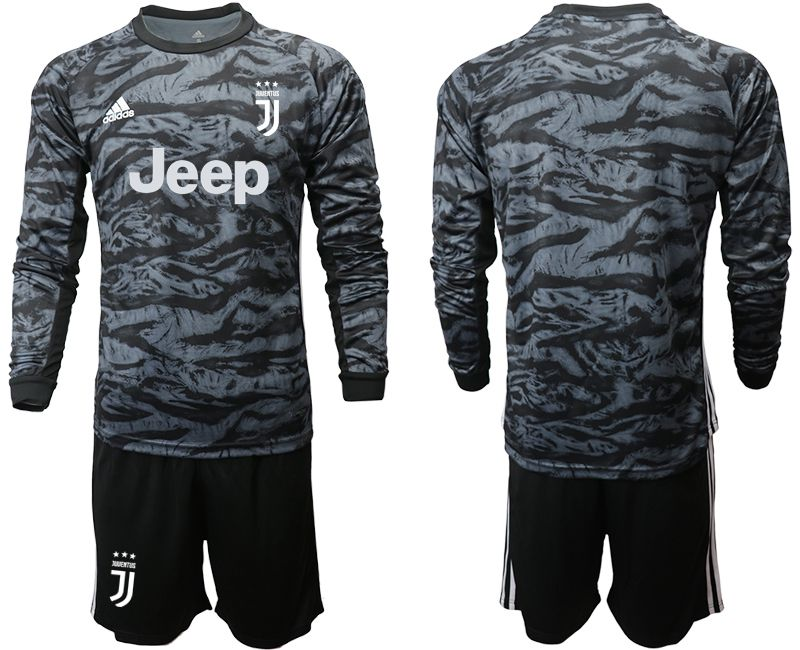 Men 2019-2020 club Juventus black long sleeve goalkeeper Soccer Jerseys