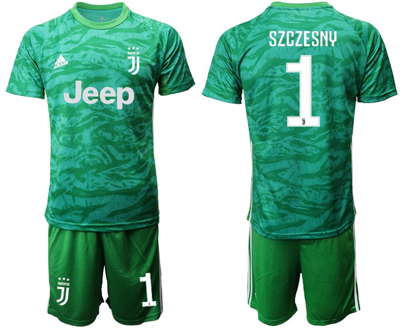 Men 2019-2020 club Juventus green goalkeeper 1 Soccer Jerseys