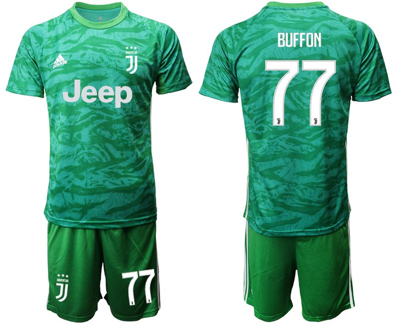 Men 2019-2020 club Juventus green goalkeeper 77 Soccer Jerseys