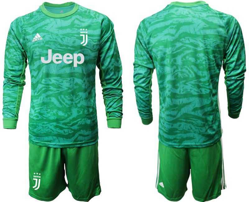 Men 2019-2020 club Juventus green goalkeeper long sleeve Soccer Jerseys