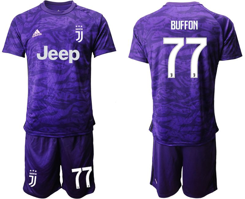 Men 2019-2020 club Juventus purple goalkeeper 77 Soccer Jerseys