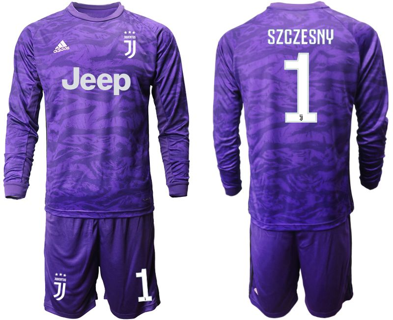 Men 2019-2020 club Juventus purple long sleeved Goalkeeper 1 Soccer Jerseys