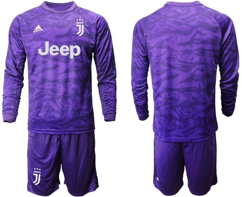 Men 2019-2020 club Juventus purple long sleeved Goalkeeper Soccer Jerseys