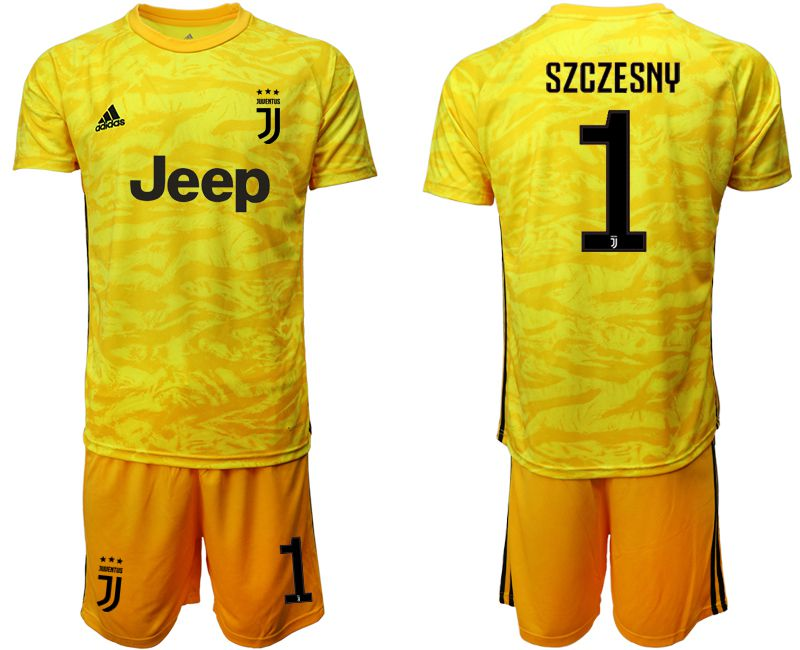 Men 2019-2020 club Juventus yellow goalkeeper 1 Soccer Jerseys