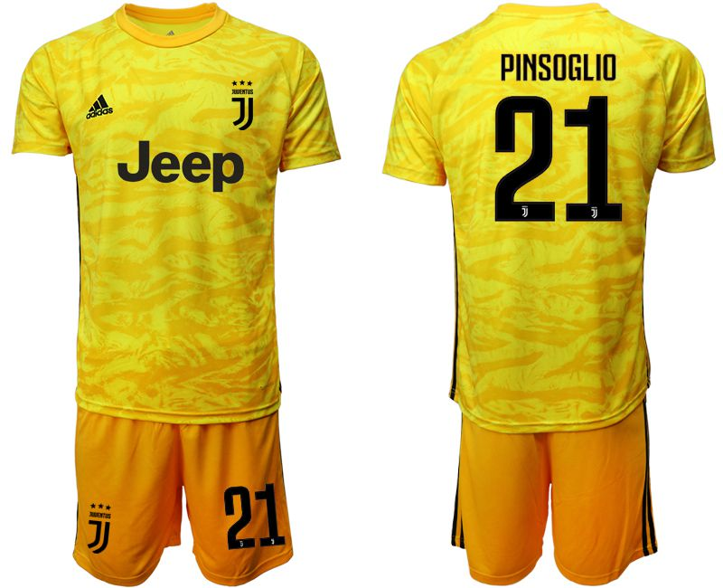 Men 2019-2020 club Juventus yellow goalkeeper 21 Soccer Jerseys
