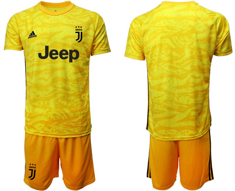 Men 2019-2020 club Juventus yellow goalkeeper Soccer Jerseys