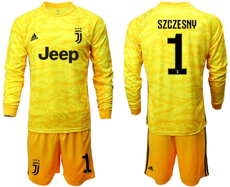 Men 2019-2020 club Juventus yellow goalkeeper long sleeve 1 Soccer Jerseys