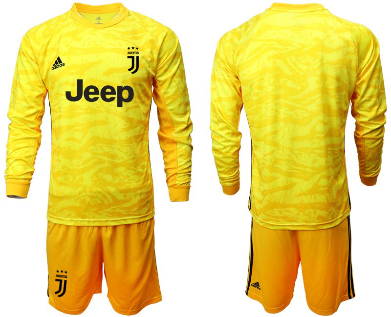 Men 2019-2020 club Juventus yellow goalkeeper long sleeve Soccer Jerseys