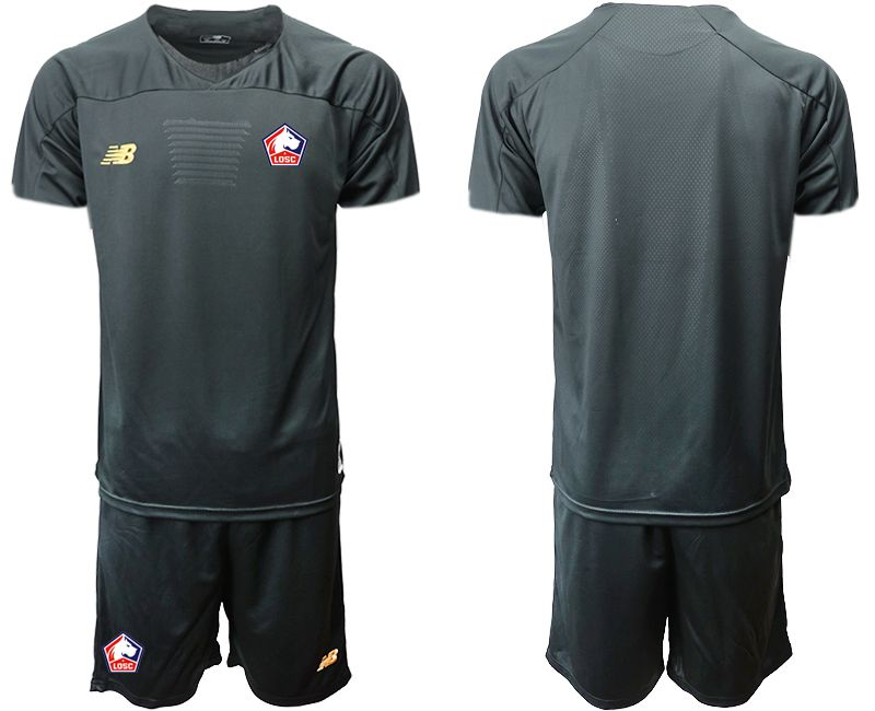Men 2019-2020 club Lille OSC black goalkeeper Soccer Jerseys