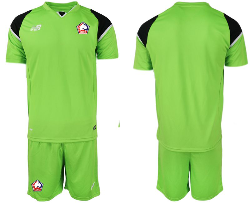 Men 2019-2020 club Lille OSC green goalkeeper Soccer Jerseys