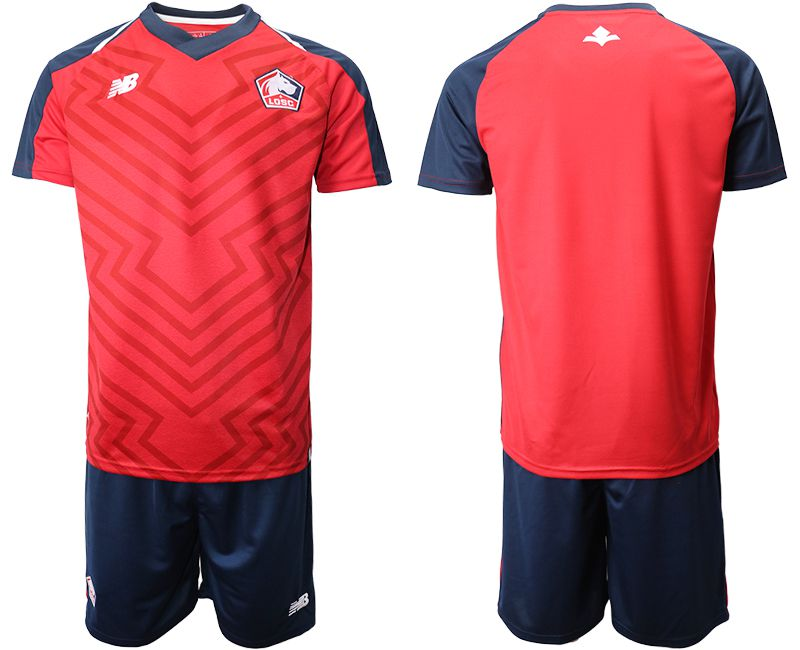 Men 2019-2020 club Lille OSC home red Soccer Jerseys