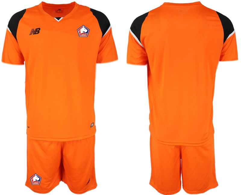 Men 2019-2020 club Lille OSC orange goalkeeper Soccer Jerseys