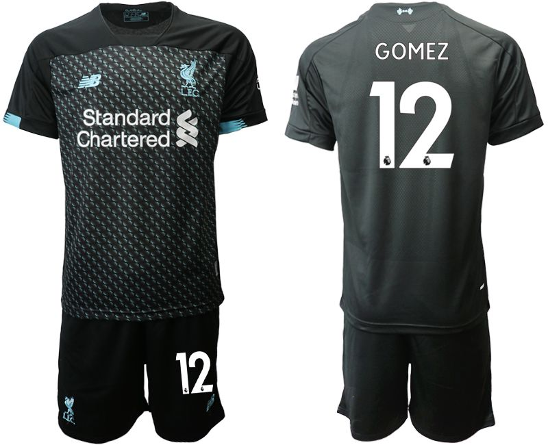 Men 2019-2020 club Liverpool Second away 12 black Soccer Jerseys