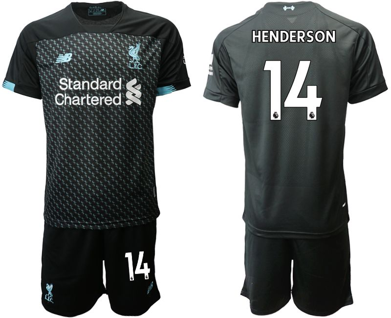 Men 2019-2020 club Liverpool Second away 14 black Soccer Jerseys