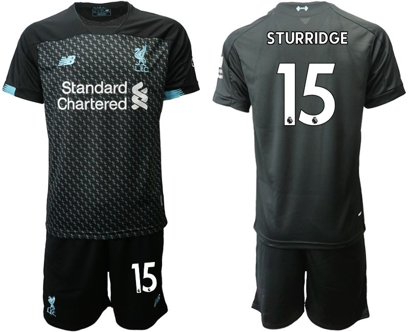 Men 2019-2020 club Liverpool Second away 15 black Soccer Jerseys