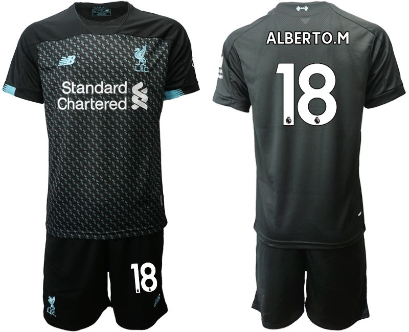 Men 2019-2020 club Liverpool Second away 18 black Soccer Jerseys