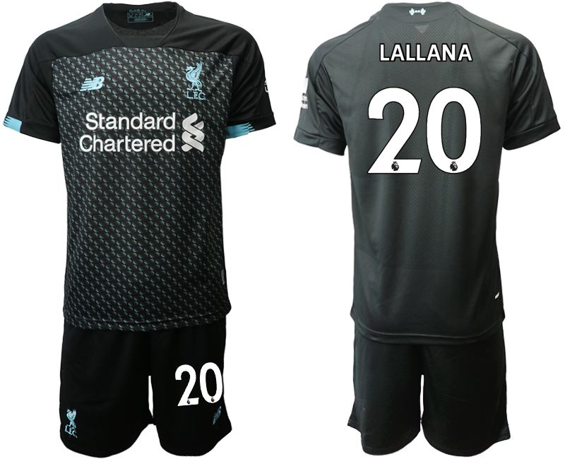 Men 2019-2020 club Liverpool Second away 20 black Soccer Jerseys