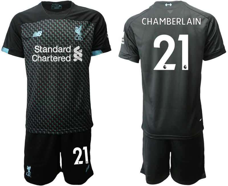 Men 2019-2020 club Liverpool Second away 21 black Soccer Jerseys