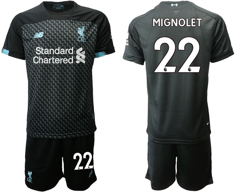 Men 2019-2020 club Liverpool Second away 22 black Soccer Jerseys