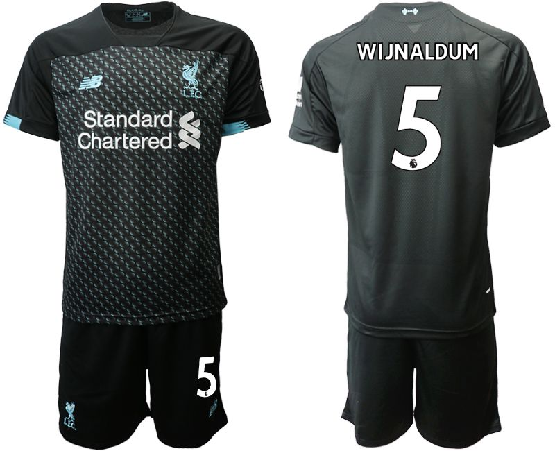 Men 2019-2020 club Liverpool Second away 5 black Soccer Jerseys