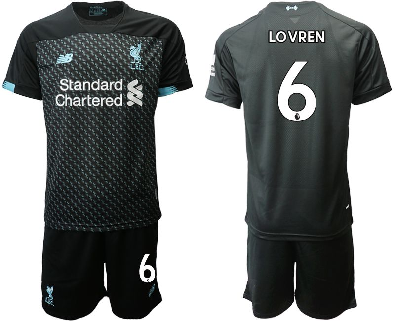 Men 2019-2020 club Liverpool Second away 6 black Soccer Jerseys