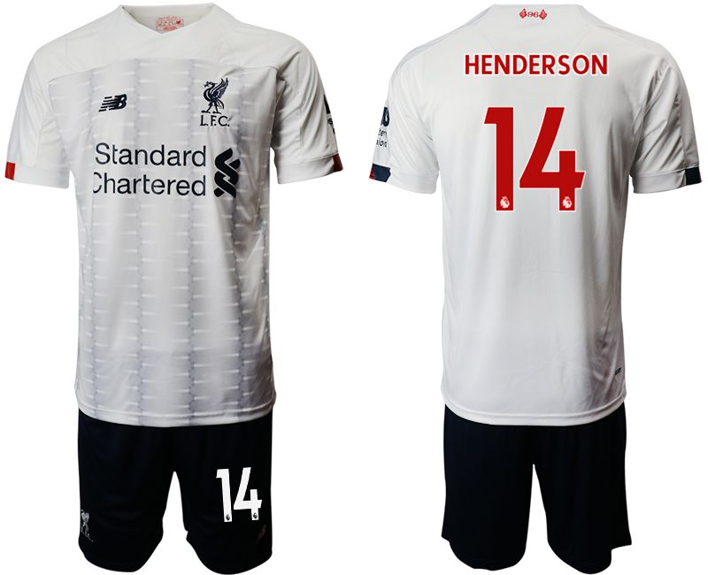 Men 2019-2020 club Liverpool away 14 white Soccer Jerseys
