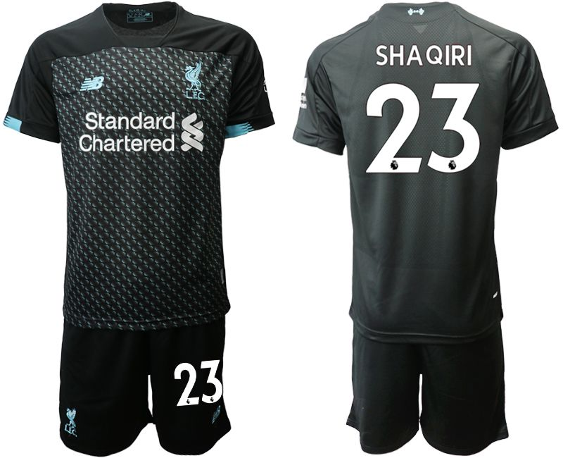 Men 2019-2020 club Liverpool away 23 black Soccer Jerseys