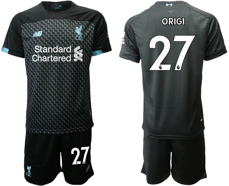 Men 2019-2020 club Liverpool away 27 black Soccer Jerseys