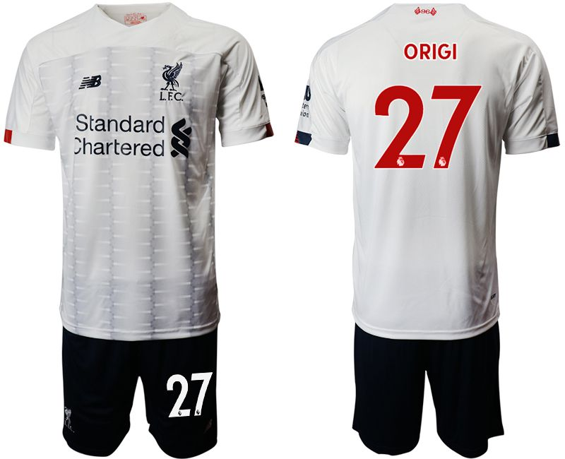 Men 2019-2020 club Liverpool away 27 white Soccer Jerseys
