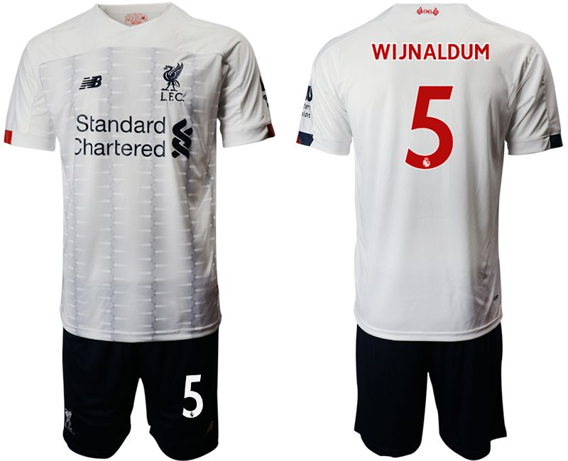 Men 2019-2020 club Liverpool away 5 white Soccer Jerseys