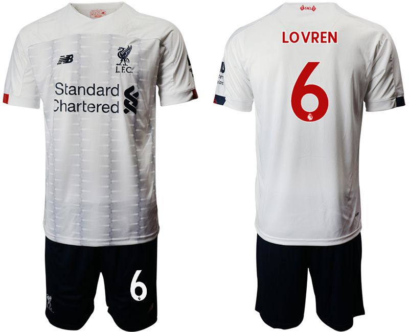 Men 2019-2020 club Liverpool away 6 white Soccer Jerseys