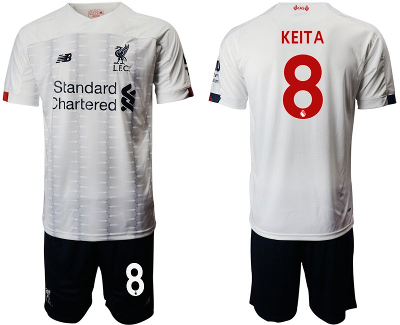 Men 2019-2020 club Liverpool away 8 white Soccer Jerseys