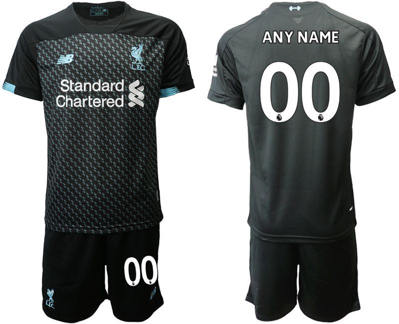 Men 2019-2020 club Liverpool away customized black Soccer Jerseys