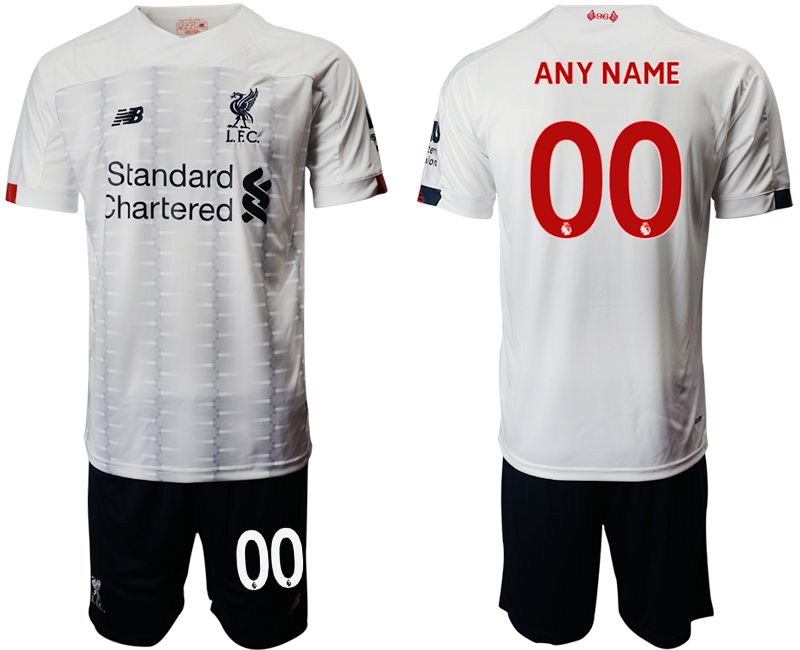 Men 2019-2020 club Liverpool away customized white Soccer Jerseys