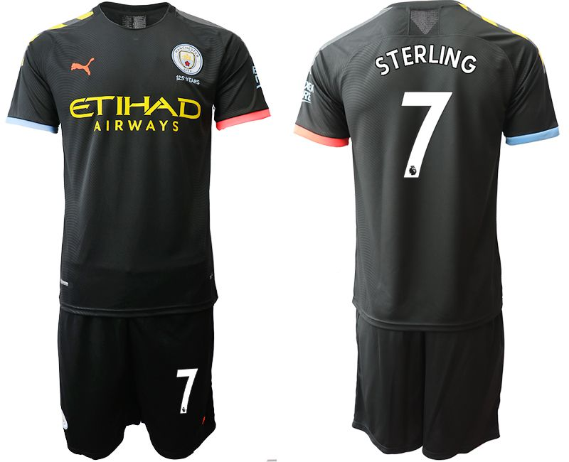 Men 2019-2020 club Manchester City away 7 black Soccer Jerseys