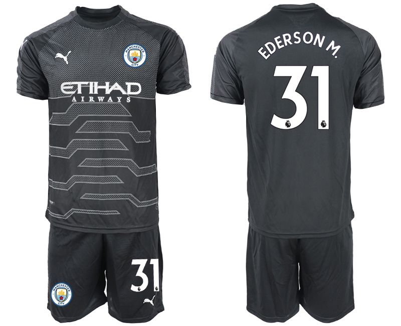Men 2019-2020 club Manchester City black goalkeeper 31 Soccer Jerseys