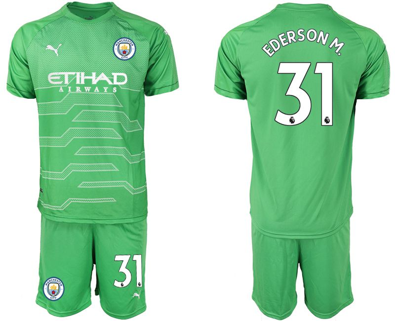 Men 2019-2020 club Manchester City green goalkeeper 31 Soccer Jerseys