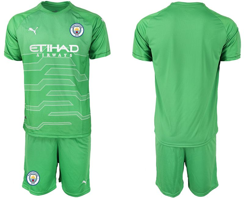 Men 2019-2020 club Manchester City green goalkeeper Soccer Jerseys